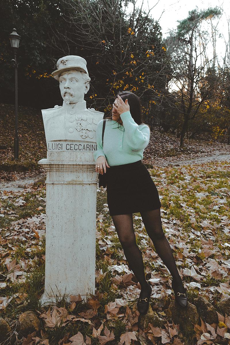 flaviana boni maglione con colletto color menta