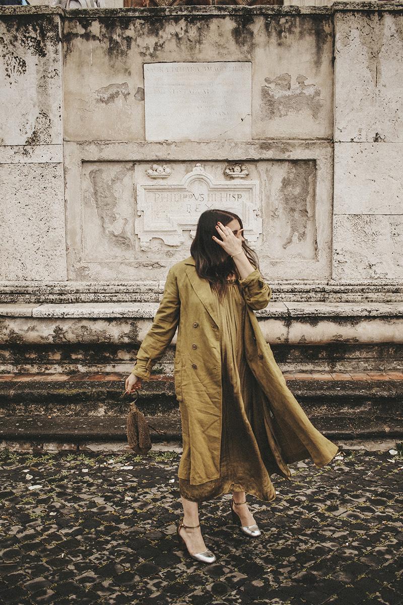 flaviana boni total look Zara verde