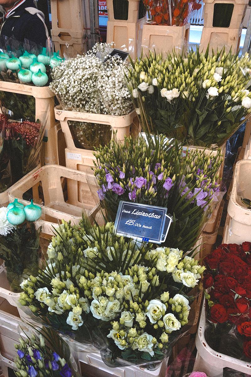 i fiori di Columbia Road Flower Market londra