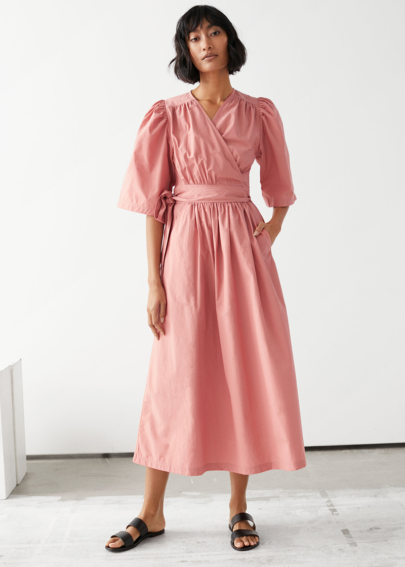 &Other Stories abito in cotone rosa must have 2020