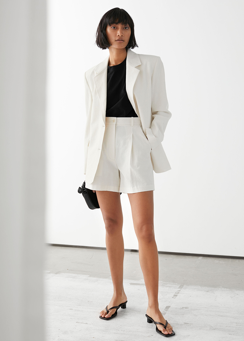 &Other Stories blazer bianco lino must have 2020