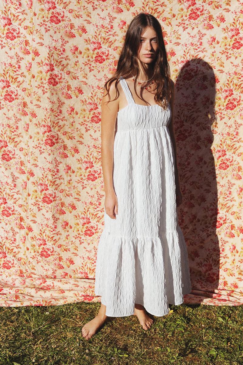 Abito Zara bianco idea pic nic